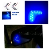 LED Sein Spion Mobil Biru Lampu Led Sign Sen Kaca Spion Tanda Panah