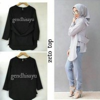 zetto top black-blouse ala hijabers