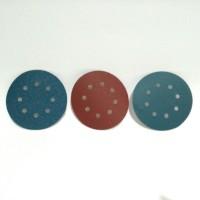 Amplas Bulat Velcro 5 + 8 lubang untuk mesin rotary sander