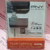 PNY micro Sd Card Reader Usb2.0 dan Lightning iPhone dan iPad