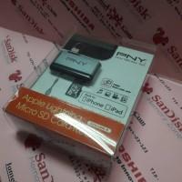 PNY Lightning Card Reader Micro sd untuk apple product