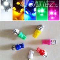Lampu LED T10 Sein Jagung Senja Rem Kabin Speedo Plat Motor Mobil