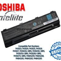 Original Baterai Laptop/Notebook Toshiba Satelite C800 C800D C840 C845 C850 C855 C870 L800 L840 L845 L850 L855 L870D