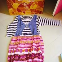 baju anak cewek dress katun jersey import