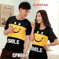Kaos Couple Smile Yellow