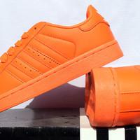 Sepatu Casual Pria/wanita Adidas Super Color Orange