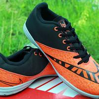 Sepatu FUtsal Import Nike Elastico Finale III Hitam Orange KW Super