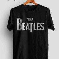 kaos/tshirt/gildan/sablon/polyflex/custom/band/the beatles/musik