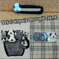 Set Car/Sarung Jok/Bantal Mobil Boneka Snoopy/Zebra/Hitam Putih 10in1