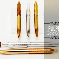 Souvenir Pulpen Gold Silver