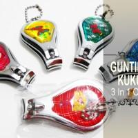 Souvenir Gunting Kuku 3 in 1 Oval