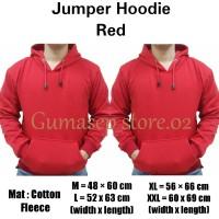 Sweater Polos Jumper Hoodie Merah