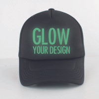 Topi Trucker GLOW in the dark custom suka suka