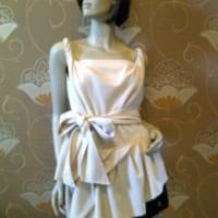 Dress Cream Scuba Renda