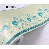 Border Sticker Blue Flower