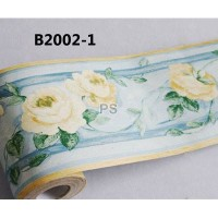 Border Sticker Yellow Rose Flower