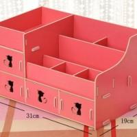 616 Rak kosmetik bahan kayu / Desktop storage kitty cat / rack unik