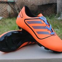 Sepatu Bola Anak Adidas Predator Orange Hitam (Junior/kids)