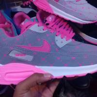 sepatu nike airmax love pink abu women // cewek // olahraga