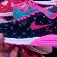 sepatu nike airmax pink tosca white women // cewek // olahraga