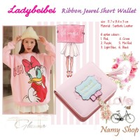 RIBBON JEWEL SHORT WALLET - NAMY SHOP