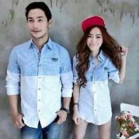 baju cp biruputih salur