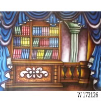 W 172126 Background foto wisuda/ rak buku studio photo