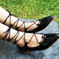 Black Gladiator Flat shoes Patrozia