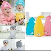topi kupluk cute beanie untuk bayi laki dan perempuan - Kuning