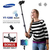 Tongsis Yunteng YT-1288 + Holder Tablet / Phablet - Galaxy Tab / iPad