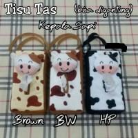 Tempat Tissue Mobil Tas/Boneka Sapi/Totol Hitam Putih/Coklat