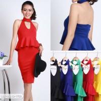 Nenchita Plain Bodycon Mini Dress