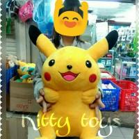 mainan acc bantal boneka pokemon pikachu XXL