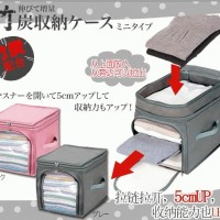Bamboo Cloth Storage Box Cube baju / pakaian 2 pintu / way (34 Liter)