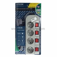 Stopkontak Kabel Uticon 4 Gang + Switch