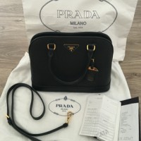 PRADA Saffiano Black Color Woman Bag BN2558 NZV F0002