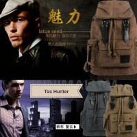 Tas Ransel Kanvas Hunter (impor)  BEST model