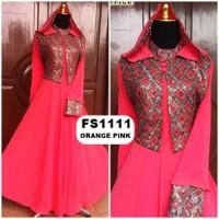 Baju Gamis Pesta Sari India Hoody FS1111