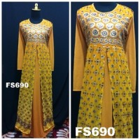 Baju Pesta Spandek Sari India Full Fikashop FS690