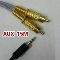 Kabel audio 15m AUX 2 RCA to 3.5mm mini stereo