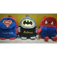 Tas Ransel Anak Boneka Import Superman, Batman, Spiderman Kaki Tangan