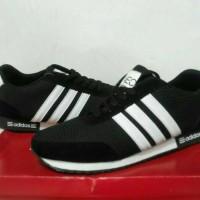 Sepatu running sport adidas neo black