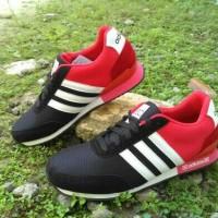 sepatu running sport adidas neo red black