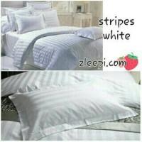 Sprei putih Stripes White