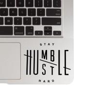 137 macbook decal sticker laptop aksesoris laptop stay humble mousepad