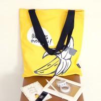 Cool Yellow Fruit Canvas Tote Bag / Tas Serbaguna
