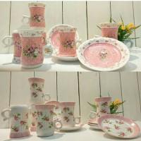 mug & plate shabby set