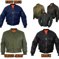 Jaket Pilot / Bomber / Scoot / Waterproof / Parasut Black Army Navy