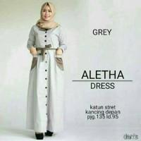 aletha dress grey
