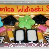 Kado/Hadiah/Souvenir Wisuda Custom  CookieCard   Kukis Hias